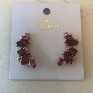 NWT Kate Spade dangling stone earrings
